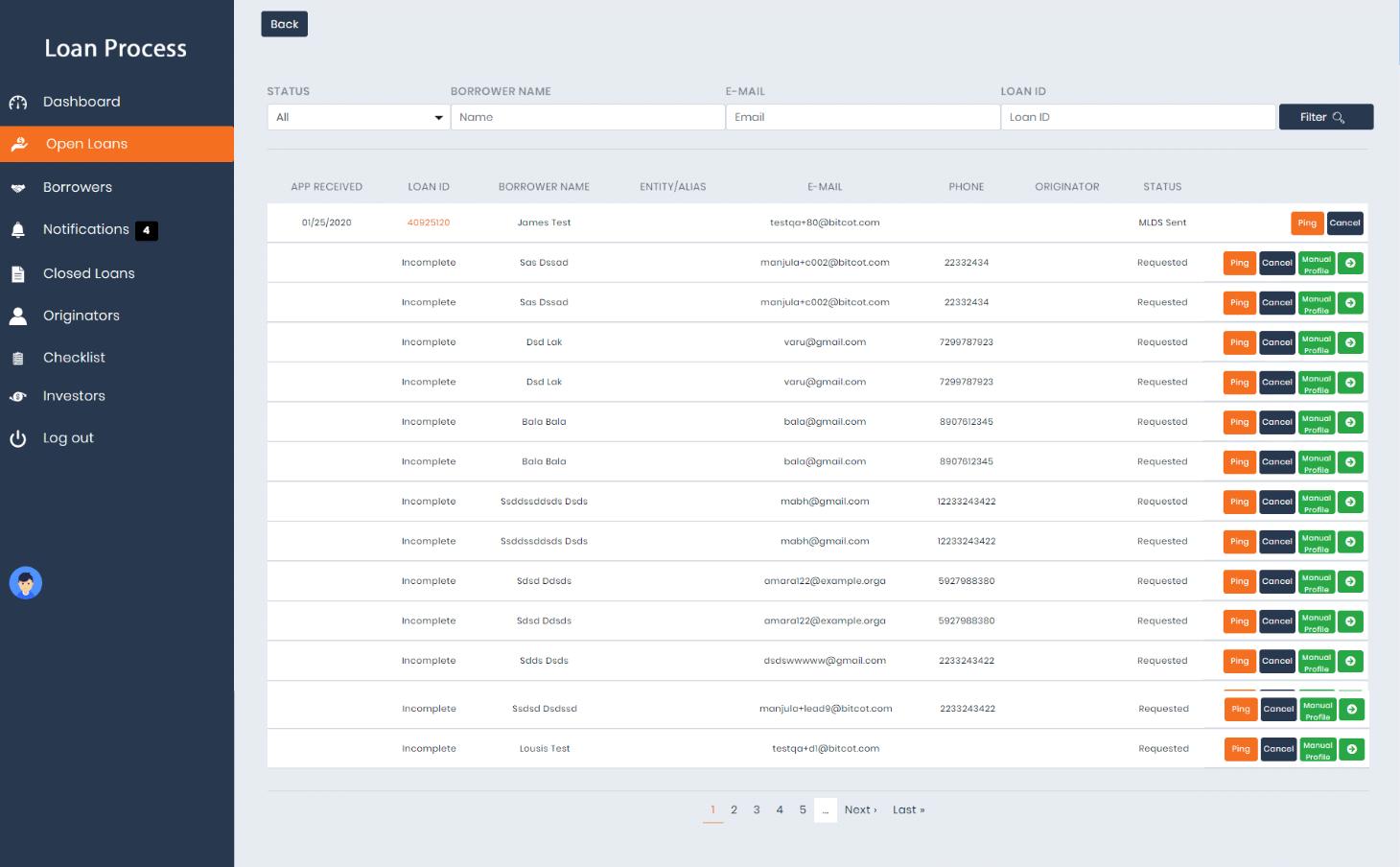 Loan Process - Digital Web